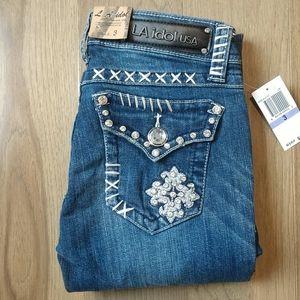 L.A. idol bling skinny jeans NWT